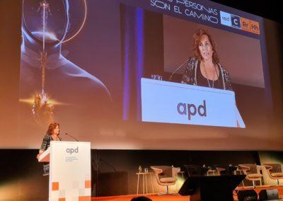 Laura González-Molero, Presidente de APD, durante la apertura del Congreso