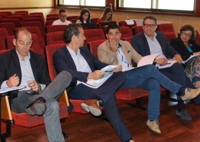 Jose Conde, Director Comercial e Iago Quintana, Director General de DAIRYLAC junto con los tutores de su Plan de Internacionalización, Enrique Aygües, Miguel Otero y Ana Sáinz