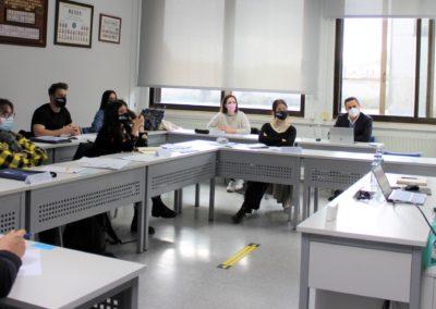 Los alumnos de la XXX promoción de MASCOMEX durante la presentación de la empresa PET SELECT