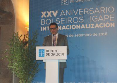 Miguel Otero, Director de MASCOMEX, durante la presentación del Curso de Perfeccionamiento en Marketing Internacional dirigidos a becarios de internacionalización del IGAPE