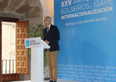 Francisco Conde, Conselleiro de Economía, Empleo e Industria durante su intervención en el Acto