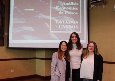 Elena Sepúlveda, Nieves Palacios y Rebeca Díez miembros del equipo que analizó la economía de Estados Unidos