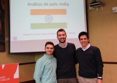 Sirio Villazán, Diego Rodríguez-Porto y Miguel Domínguez miembros del equipo que analizó la economía de India