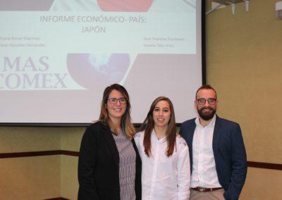 María Bonet, Natalia Tato y Noel González miembros del equipo que analizó la economía de Japón