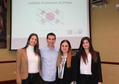 María Gens, Carlos Iglesias, María Piedra y Natalia Eiras miembros del equipo que analizó la economía de Corea del Sur