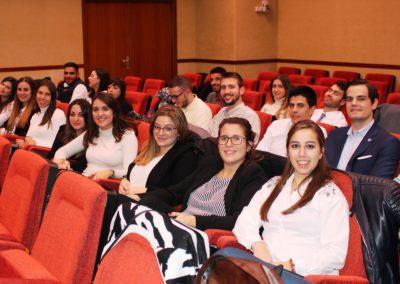 Los alumnos de MASCOMEX durante la presentación de los proyectos