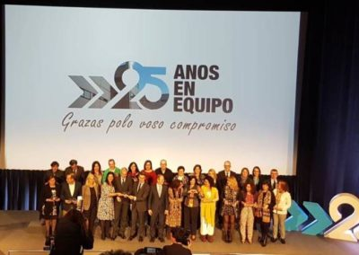 Entrega de los reconocimientos al personal del IGAPE  que durante estos 25 años han estado contribuyendo con su labor al desarrollo de la economía gallega