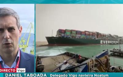 """Daniel Taboada, nuestro profesor de Logística y Transporte Internacional, es entrevistado sobre las consecuencias del bloqueo del Canal de Suez por el buque """"Ever Given"""""""