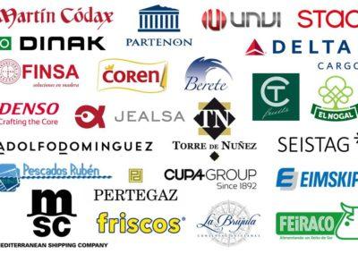 Empresas que han participado en el Programa de Prácticas Remunerado en la edición 2018-2019